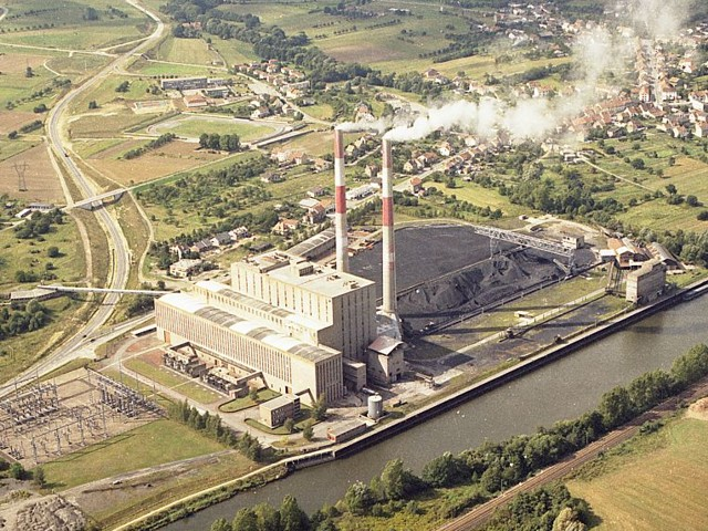 Vue aérienne de la centrale