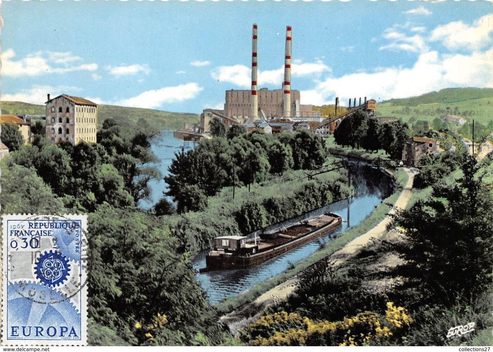 La Sarre, le canal et la centrale