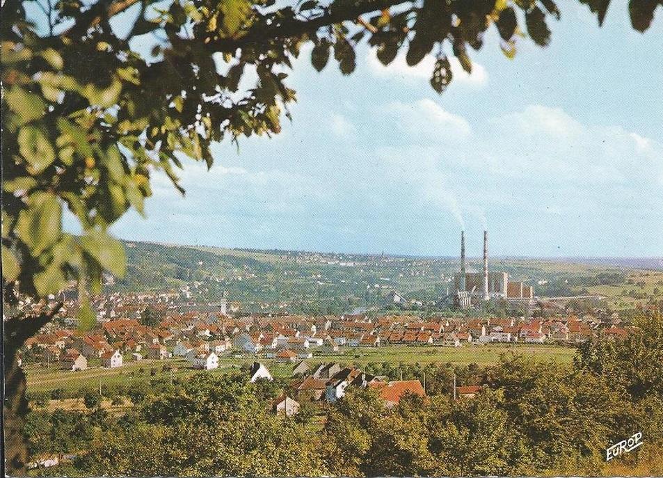 Vue de la centrale depuis la forêt du Brandenbusch