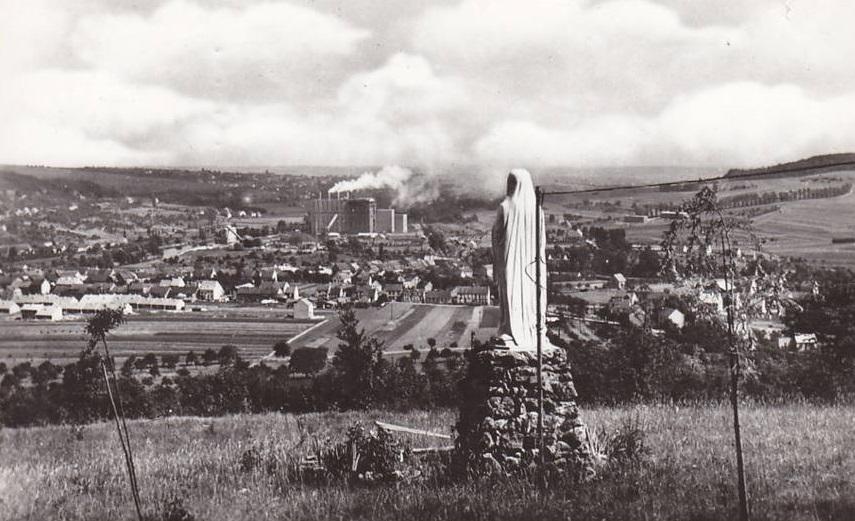 Vue de la centrale depuis la Vierge du Brandenbusch